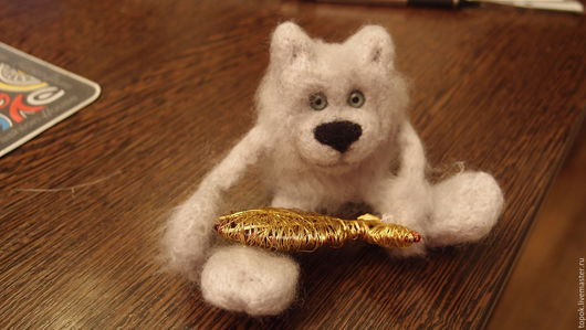 Игрушки животные, ручной работы. Ярмарка Мастеров - ручная работа. Купить Серебряный кот Сильвер и Золотая рыбка. Handmade. Серебряный