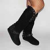 Обувь ручной работы handmade. Livemaster - original item Boots with Spikes and leather finish. Handmade.