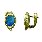 Украшения handmade. Livemaster - original item Gold earrings