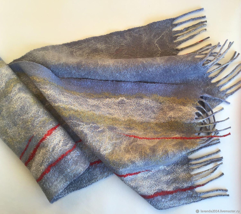 Men's felt scarf Jurmala, thin felt, Scarves, St. Petersburg,  Фото №1
