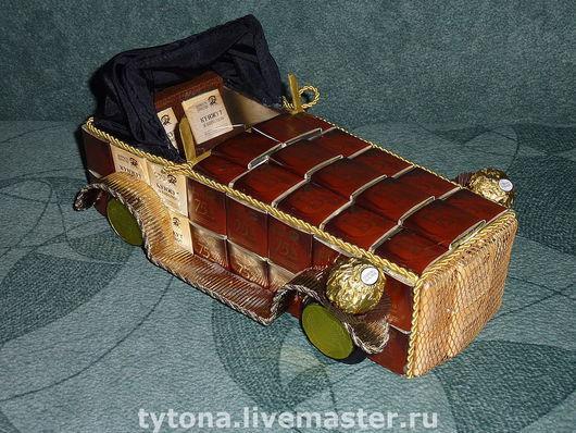 Подарки для мужчин, ручной работы. Ярмарка Мастеров - ручная работа. Купить Сhocolate Car. Handmade. Подарок автомобилисту, сладкий подарок