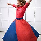 Одежда ручной работы. Ярмарка Мастеров - ручная работа юбка льяная. Handmade.