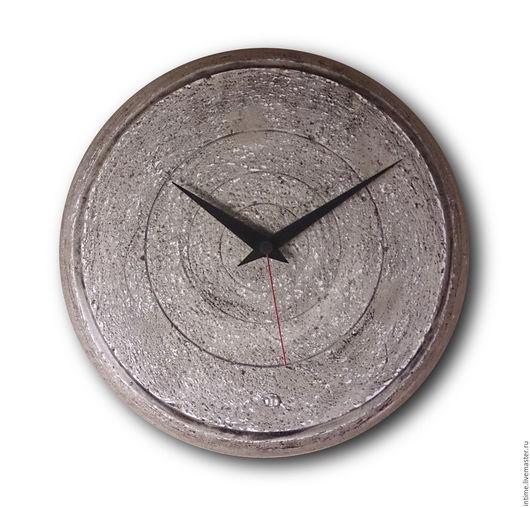 Часы для дома ручной работы. Ярмарка Мастеров - ручная работа. Купить Серые археологические часы. Handmade. Настенные часы