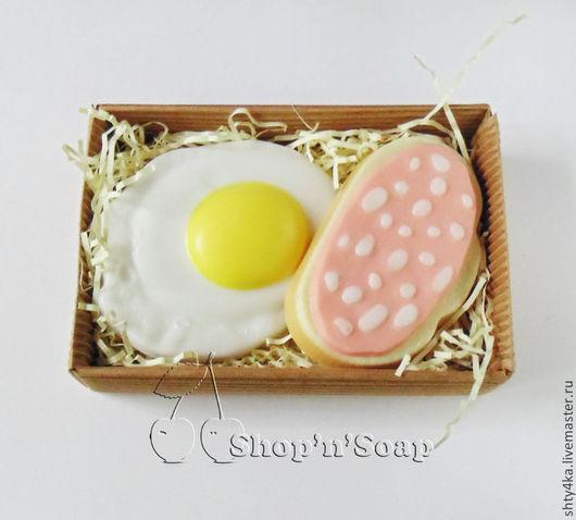 """Подарочные наборы косметики ручной работы. Ярмарка Мастеров - ручная работа. Купить Набор мыла """"Завтрак холостяка"""". Handmade. яйцо"""