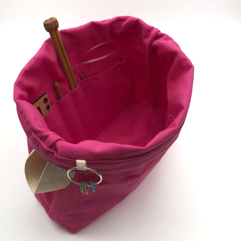 Сумка для вязания с кольцом для маркеров и карманами Project bag, Органайзеры, Екатеринбург,  Фото №1