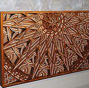 Картины и панно ручной работы. Ярмарка Мастеров - ручная работа Панно - мандала Восходящее солнце. Handmade.
