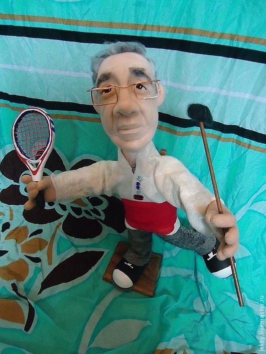 Персональные подарки ручной работы. Ярмарка Мастеров - ручная работа. Купить Портретная кукла на заказ по фото  -Танцор-теннисист. Handmade.