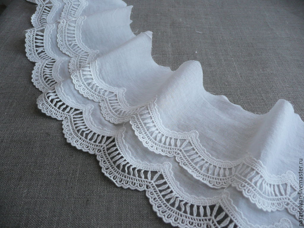 Sewing cotton 'Double wave' 14 cm NO before July 5, Lace, Ivanovo,  Фото №1