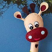Мягкие игрушки ручной работы. Ярмарка Мастеров - ручная работа Жираф 25см,  игрушка из фетра. Handmade.