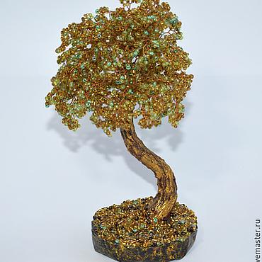 """Цветы и флористика ручной работы. Ярмарка Мастеров - ручная работа Бисерное дерево """"Золотая осень"""". Handmade."""