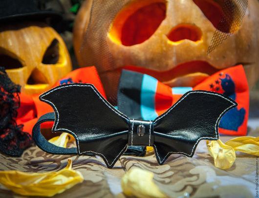 """Галстуки, бабочки ручной работы. Ярмарка Мастеров - ручная работа. Купить Бабочка """"КРЫЛЬЯ"""". Handmade. Черный, искуственная кожа, halloween"""