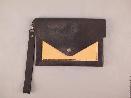 Женские сумки ручной работы. Ярмарка Мастеров - ручная работа. Купить сумочка клатч из натуральной кожи. Handmade. Клатч, зеленый