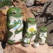 Русский стиль handmade. Livemaster - original item Matryoshka Frogs. Handmade.