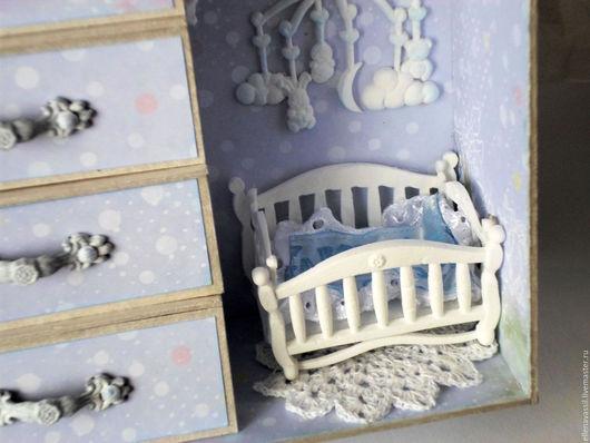 Шкатулка Мамины сокровища в виде комнаты для мальчика ручная работа на заказ Ярмарка мастеров Елена Колегова