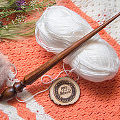 Материалы для творчества handmade. Livemaster - original item The spindle for spinning the Siberian Cedar Wooden spindle #B21. Handmade.