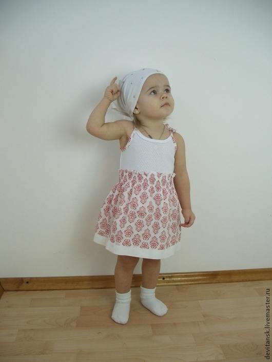 Одежда для девочек, ручной работы. Ярмарка Мастеров - ручная работа. Купить Сарафан - боди для малышки. Handmade. Белый, платье для девочки