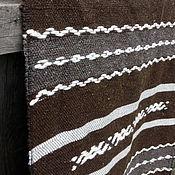 Ковры ручной работы. Ярмарка Мастеров - ручная работа Шерстяной домотканый половик Коричневый узорный. Handmade.