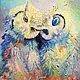 "Картина с совами ""Ты спи любимая, а я пока покараулю..."", Картины, Нижний Новгород,  Фото №1"
