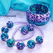 Украшения handmade. Livemaster - original item Bracelet, earrings, necklace, set of Magic Forest. Handmade.
