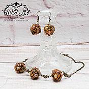 Украшения handmade. Livemaster - original item Jewelry set with Jasper,
