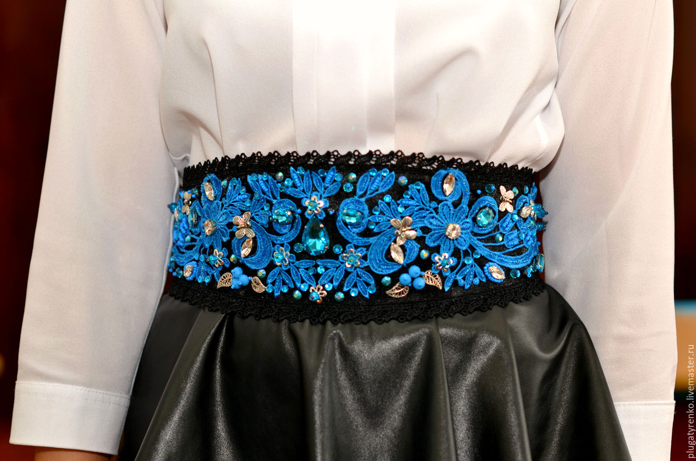 Пояс для платья сделать своими руками