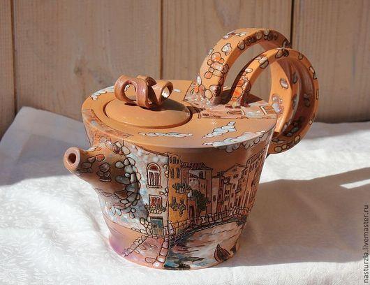 Чайники, кофейники ручной работы. Ярмарка Мастеров - ручная работа. Купить Чайник Венеция. Handmade. Чайник, керамический, авторская керамика