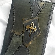 Канцелярские товары handmade. Livemaster - original item diary in leather cover dragon