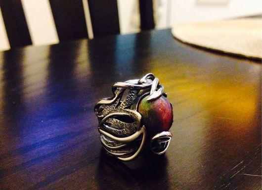 Кольца ручной работы. Ярмарка Мастеров - ручная работа. Купить Кольцо серебро  с камнем. Handmade. Серебро