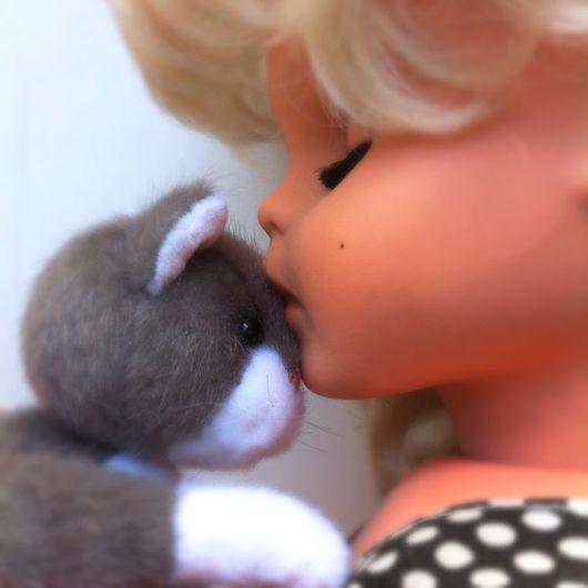 Мишки Тедди ручной работы. Ярмарка Мастеров - ручная работа. Купить Тедди котик Серый кот. Handmade. Тедди, киса