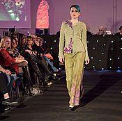 Одежда handmade. Livemaster - original item Suit made of wool Shades of green. Handmade.