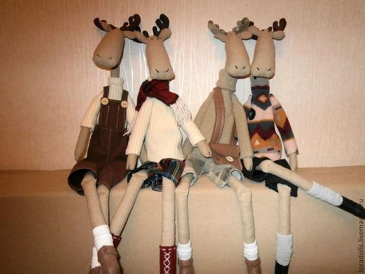 Куклы Тильды ручной работы. Ярмарка Мастеров - ручная работа. Купить Лосики. Handmade. Свитер теплый, свитер вязаный, холлофайбер