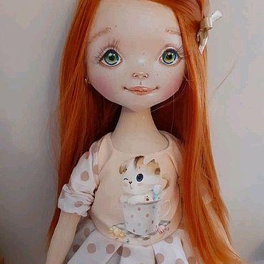Куклы и игрушки ручной работы. Ярмарка Мастеров - ручная работа Ириска. Текстильная куколка. Handmade.