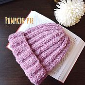 Аксессуары handmade. Livemaster - original item Warm lilac hat-Bini boucle