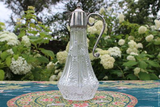 Винтажная посуда. Ярмарка Мастеров - ручная работа. Купить Старинный редкий графин ,серебряное покрытие,Англия. Handmade. Графин, интерьер