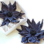 """Украшения ручной работы. Ярмарка Мастеров - ручная работа Броши для обуви """"Синие цветы"""". Handmade."""