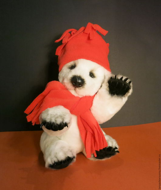 Мишки Тедди ручной работы. Ярмарка Мастеров - ручная работа. Купить Мишка тедди Санта Лапус.. Handmade. Белый, санта