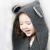 Аксессуары handmade. Livemaster - original item Knitted hood-scarf