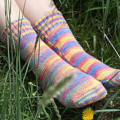 Аксессуары ручной работы. Ярмарка Мастеров - ручная работа Вязаные носки женские. Handmade.