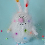 """Куклы и игрушки ручной работы. Ярмарка Мастеров - ручная работа Вязаный заяц """"Конфетный"""" ( Игрушки для детей / пушистики / кролики). Handmade."""