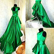 Работы для детей, handmade. Livemaster - original item Gorgeous dress with a train. Handmade.