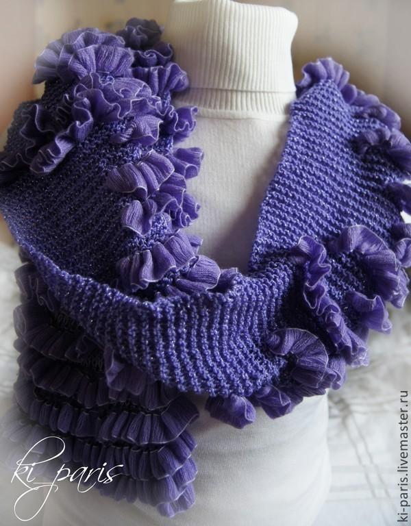 Вязание шарфа волна