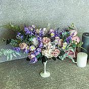 Композиции ручной работы. Ярмарка Мастеров - ручная работа Цветочная композиция в стиле Прованс,интерьерные цветы в нежных тонах. Handmade.