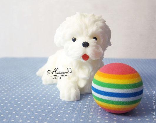 Мыло ручной работы. Ярмарка Мастеров - ручная работа. Купить Мыло Собака. Handmade. Белый, мыло для детей, сувенирное мыло