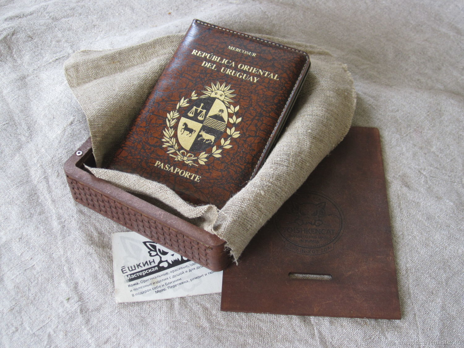 Case for documents or passports with the coat of arms of Uruguay, Passport cover, Nizhnij Tagil,  Фото №1