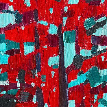 Картины и панно ручной работы. Ярмарка Мастеров - ручная работа «Красные сосны» Картина лесной пейзаж маслом. Handmade.