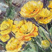 Картины и панно handmade. Livemaster - original item Oil painting. Yellow tulips.. Handmade.