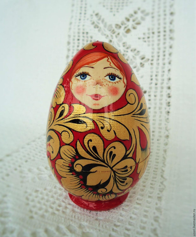 Поделки матрёшки из яиц