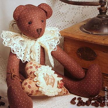Куклы и игрушки ручной работы. Ярмарка Мастеров - ручная работа Тильда мишка кофейный. Handmade.