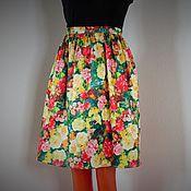 Одежда ручной работы. Ярмарка Мастеров - ручная работа Юбка короткая юбка летняя. Handmade.