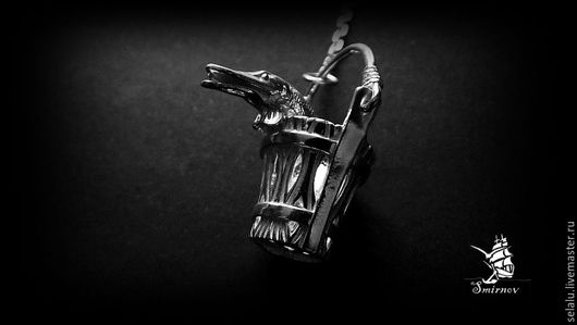 """Подарки для мужчин, ручной работы. Ярмарка Мастеров - ручная работа. Купить Ионизатор """"Щука в ведре"""" Серебро 925 пробы.. Handmade."""